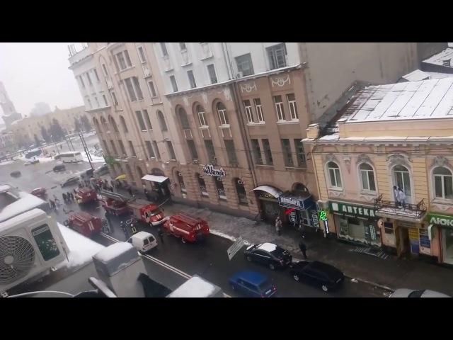 01 загорание крыши прибытие спецтехники Харьков