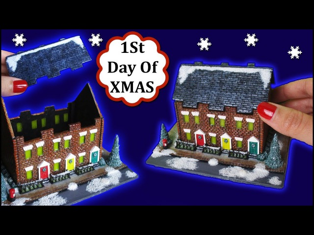 Miniature London Street At Christmas Scene/Lantern, Polymer Clay Tutorial    Maive Ferrando