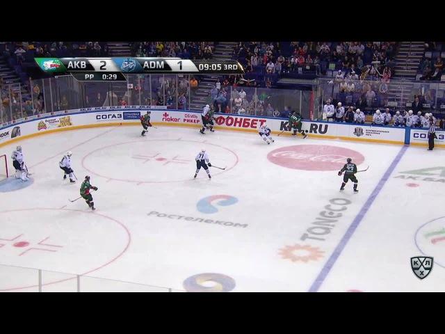 Моменты из матчей КХЛ сезона 16/17 • Гол. 3:1. Глинкин Антон (Ак Барс) в пустые ворота 26.08