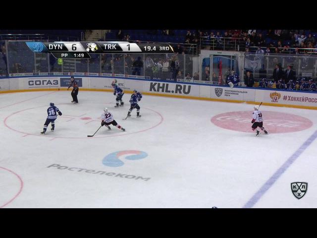 Моменты из матчей КХЛ сезона 16/17 • Гол. 6:2. Петров Юрий (Трактор) из за ворот от голкипера 23.01