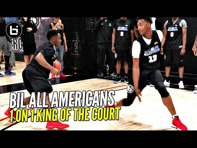BIL All Americans 1 on 1 King of The Court! LiAngelo Ball, Chris Lykes More! Who You Got!?