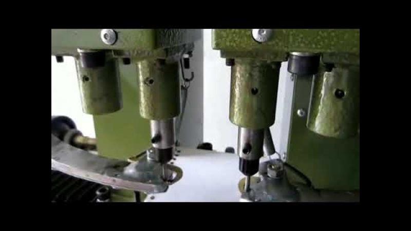 Pneumatic Eyelet Machine Dual Feeders Fully Automatic
