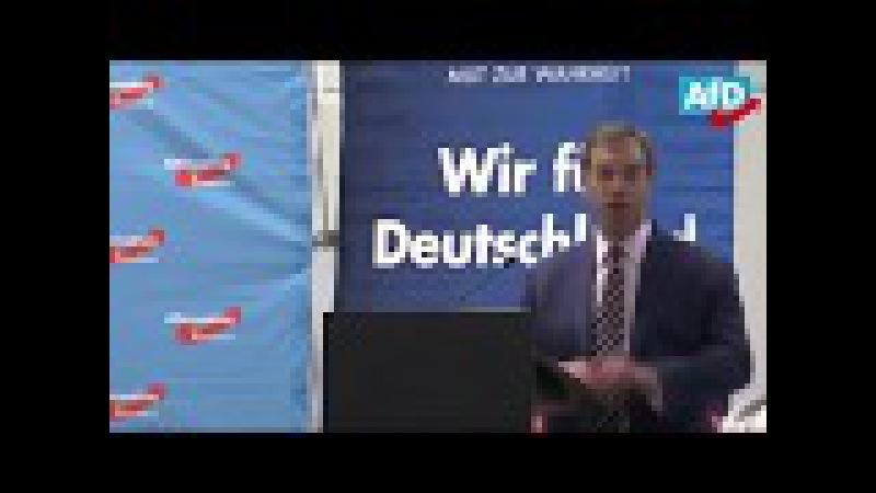 Nigel Farage unterstützt die AfD (auf engl. -- später dt. Übersetzg) - Berlin 08.09.2017