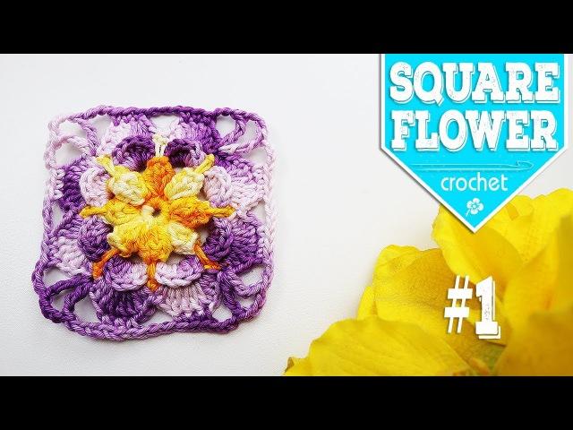 SQUARE FLOWER 1 - CROCHET Soraia Bogossian - Mundo de Soraia