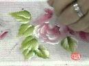 Maria Helena Ensina a pintar flores em pano de prato Bloco