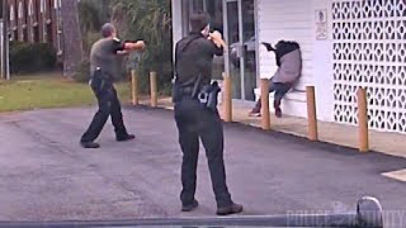 Dashcam Captures Police Shootout in Escambia County Florida