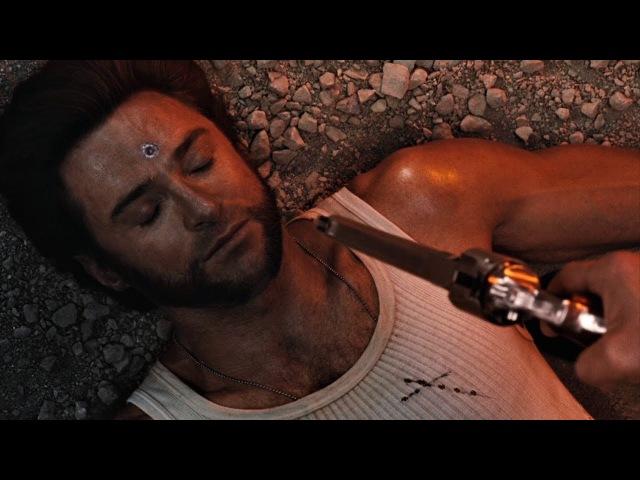 Уильям Страйкер стреляет адамантиевой пулей в голову Логану. Люди Икс: Начало. Росомаха. 2009