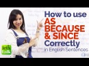 Using AS, SINCE BECAUSE correctly in English sentences – Free English Grammar Lessons Online