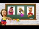 РАЗВИВАЮЩАЯ ДОСКА Мультфильм Барби про школу. Школьные истории с куклами для де ...