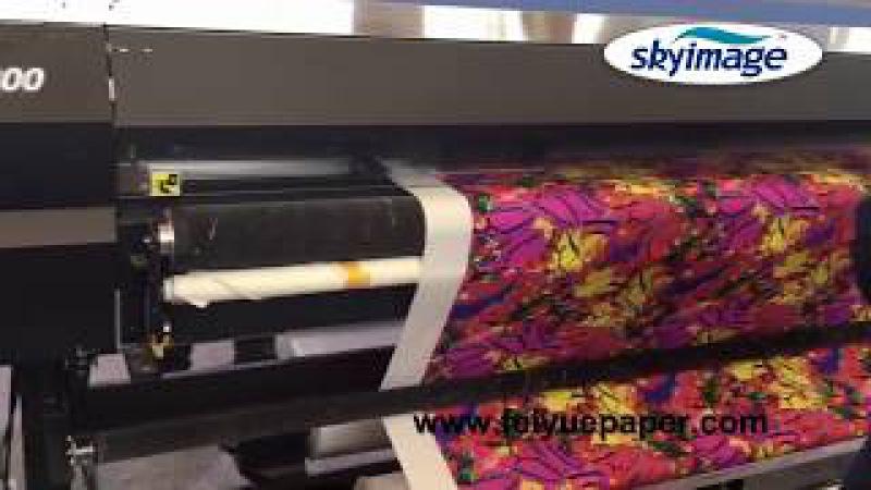 Large Format Inkjet Printer Print Sublimation Paper than Heat Pressing on Sublimation Calender