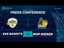 EWE Baskets Oldenburg v MHP Riesen Ludwigsburg - Press Conf. - Basketball Champions League 2017-18