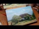 Рисуем пейзаж по многослойной технологии живописи. Drawing a Landscape with oil paints