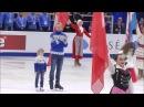 Гимн РФ и представление Евгения Плющенко на открытии Чемпионата Европы 2018 в Мос