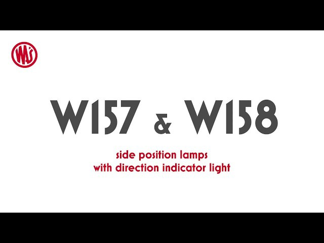 W157 and W158 side position lamps with direction indicator