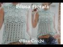 Versão destros: Blusa florata em Crochê (explicação) Elisa Crochê
