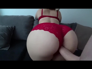 Sex in stockings and through red panties [all sex, new porn, home video]