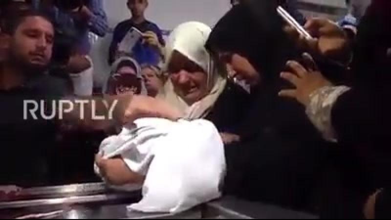 Восьмимесячная палестинская девочка Лейла Гандур убитая израильскими военными