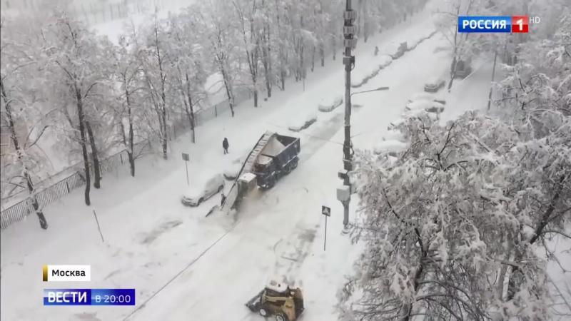 Снегопад столетия за двое суток в Москве выпало 125 процентов месячной нормы осадков - Россия 24