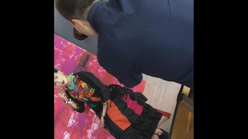 Фрида Кало. Прическа и макияж для Валерии
