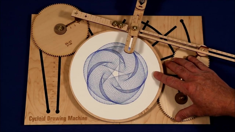 Joe Freedmans Amazing Cycloid Drawing Machine