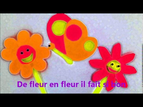 Tu t'envoles papillon chanson comptine pour enfants Eléa Zalé chanson printemps
