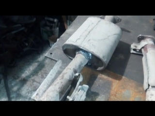 Реставрация выхлопной системы ММС паджеро. Сюрприз! (техноцентр Апельсин)