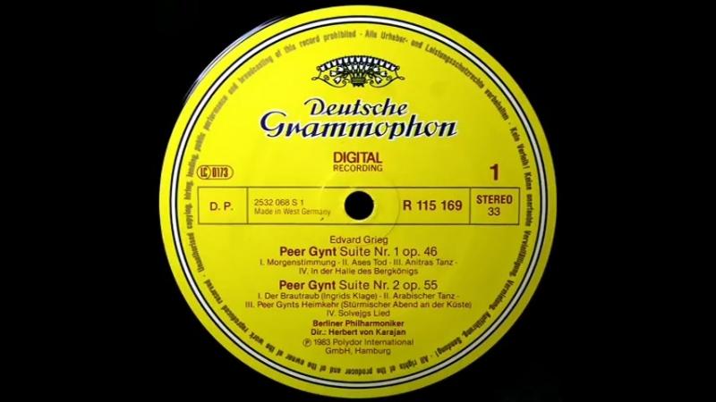 Grieg H Von Karajan, 1983 Peer Gynt Suites Nos. 1 and 2 - Complete / Vinile..(LP)