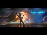 Стражи Галактики 2. Малыш Грут танцует на фоне битвы