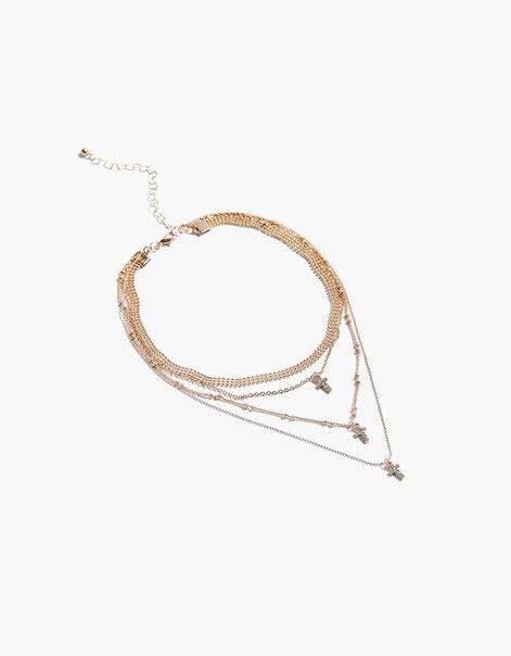 Ожерелье из цепочек с подвеской