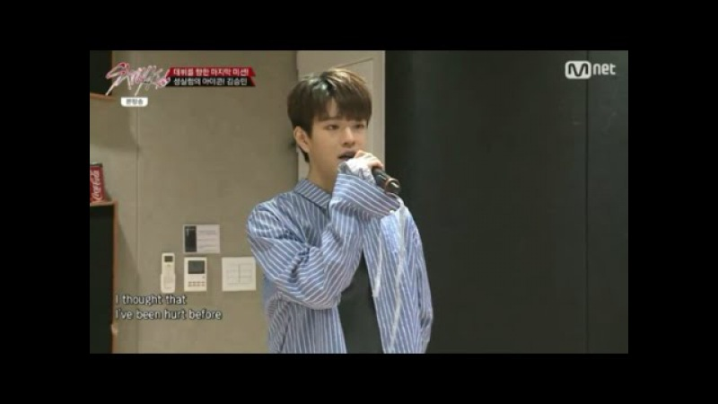 Seungmin singing Stitches by Shawn Mendes (Stray Kids ep 9)