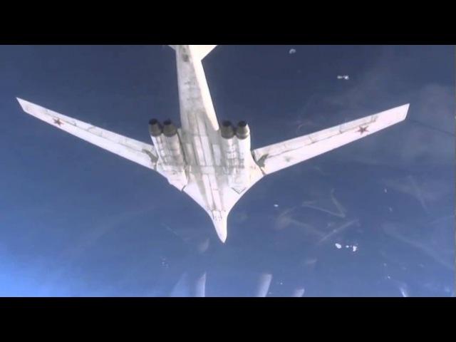Пуски крылатых ракет по объектам террористов в Сирии с борта Ту-160