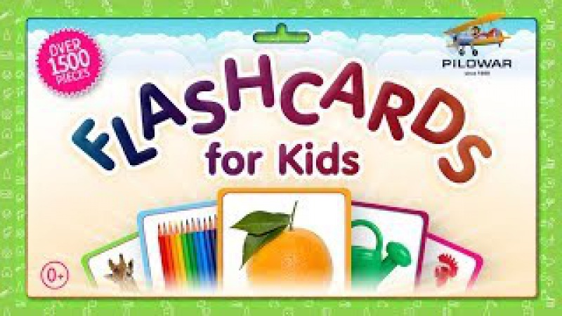 Wild Animals, Professions, Flowers (73 Cards) Collection - Flashcards for Kids