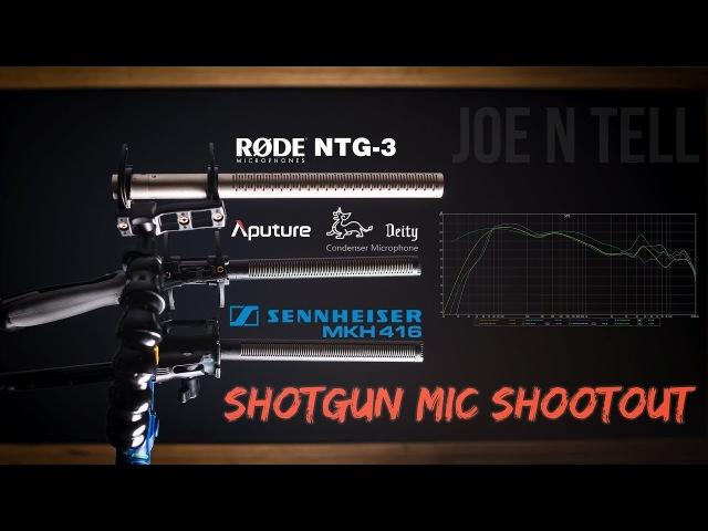 Shotgun Mic Shootout: Sennheiser MKH 416 vs. Aputure Deity vs. Rode NTG-3