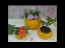 Como fazer vaso em forma de abobora de cimento