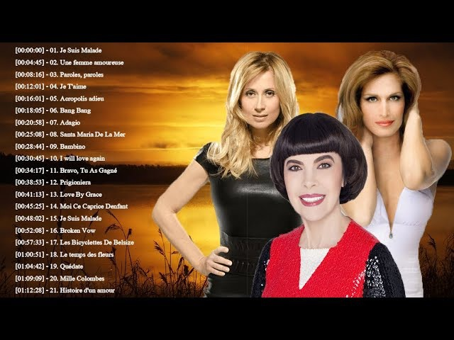 Lara Fabian, Mireille Mathieu, Dalida : Best Of ♪ღ♫ Meilleures Chansons en Françaises