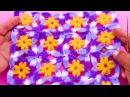 Motivo o pastilla a crochet florcitas pequeñas para aplicar en blusas, chalecos, manteles