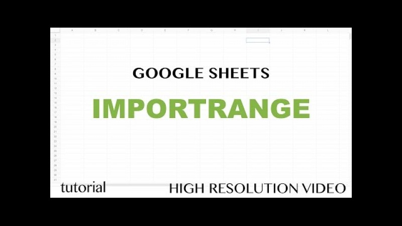 Google Sheets IMPORTRANGE Function Tutorial - Learn How to Pull Data From Other SpreadSheets