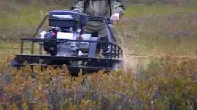 Видео от владельца. На мотобуксировщике КОЙРА по болоту. Первый всесезонный! KOiRA2...