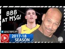 Lonzo Ball Full Highlights vs Knicks (2017.12.12) - 17 Pts, 8 Reb, 6 Ast, LAVAR WATCHING!