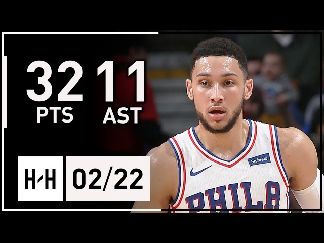 Ben Simmons Full Highlights 76ers vs Bulls (2018.02.22) - 32 Points, 11 Ast, 7 Reb, CLUTCH!