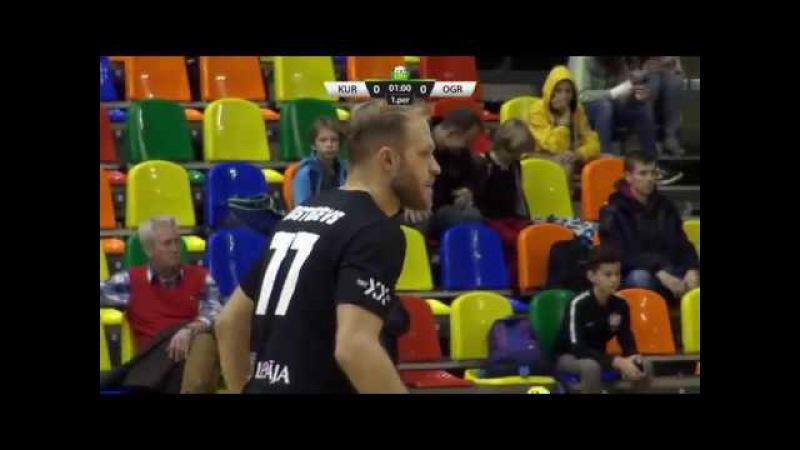 ELVI florbola līga: FK Kurši/Ekovalis - FK Ogres vilki (28.10.2017)