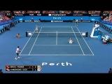 Bencic Federer Vs Vandeweghe Sock Hopman Cup 2018 (Funny moments)