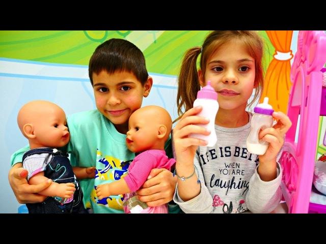 Элис работает няней для Беби Бон. Видео для детей