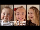 Portrait of Lotte 0 to 18 years