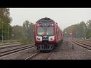 Дизель-поезд ДР1АЦ-219185 на ст. Кокнесе / DR1AC-291185 DMU at Koknese station