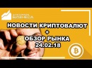 Обзор рынка криптовалют на сегодня новости прогноз Биткоин Bitcoin BTC USD 24 02 2018