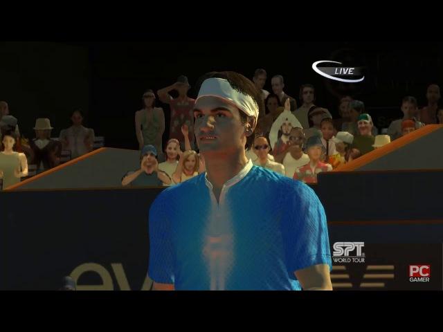 Roger Federer vs Gaël Monfils. Roland Garros. Virtua Tennis 3