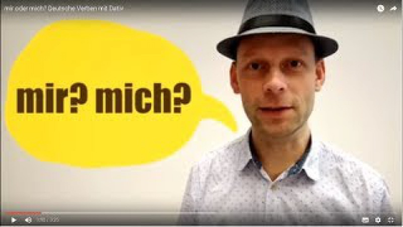 Mir oder mich? Deutsche Verben mit Dativ