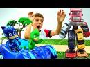 Герои в Масках против РОБОТА из МАШИНОК!🚗 Игрушки Pj Masks / Мультики 2017 и Игры для Д...