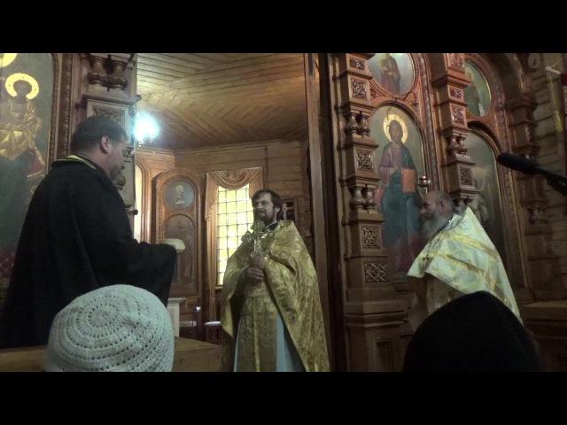 Поздравительное слово в День Ангела о.Сергия Чекоданова